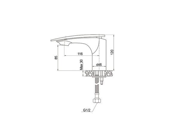 ծորակ լվացարանի Raiber Dunis R1201 ,