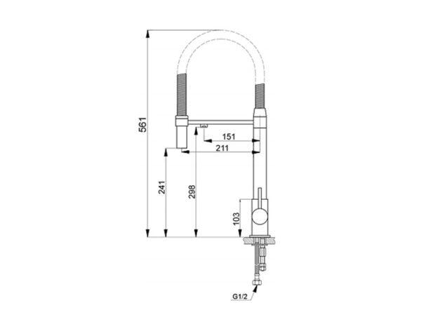 ծորակ խոհանոցի Raiber RF6601.