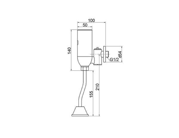 ծորակ պիսուարի Raiber Sensor RHL1103T.